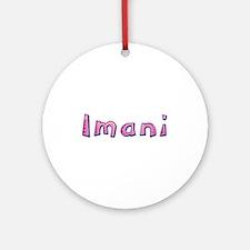 Imani Pink Giraffe Round Ornament