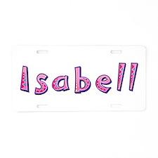 Isabell Pink Giraffe Aluminum License Plate