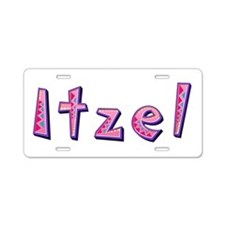 Itzel Pink Giraffe Aluminum License Plate