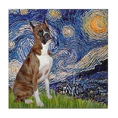 Starry / Boxer Tile Coaster