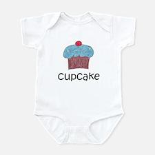 Blue Cupcake Infant Bodysuit