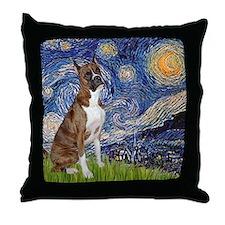 Starry / Boxer Throw Pillow