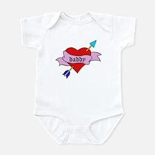 Daddy Heart Tattoo Infant Bodysuit