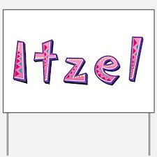 Itzel Pink Giraffe Yard Sign