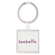 Izabella Pink Giraffe Square Keychain