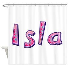 Isla Pink Giraffe Shower Curtain
