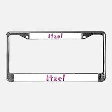 Itzel Pink Giraffe License Plate Frame