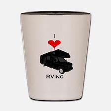 I Love RVing Shot Glass