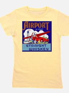 Airport Airplane Pilot Vintage Whiskey  Girl's Tee