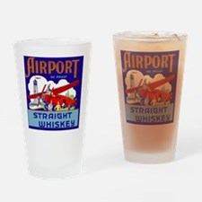 Airport Airplane Pilot Vintage Whis Drinking Glass