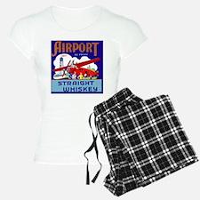 Airport Airplane Pilot Vint Pajamas
