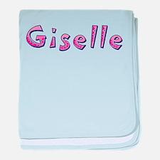 Giselle Pink Giraffe baby blanket