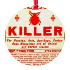 Bed Bug Killer Odd Vintage Label Ornament