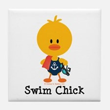 Anchor Swim Chick Tile Coaster