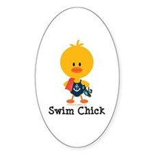 Anchor Swim Chick Decal