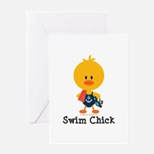 Anchor Swim Chick Greeting Card
