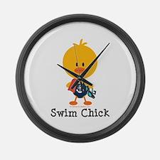 Anchor Swim Chick Large Wall Clock
