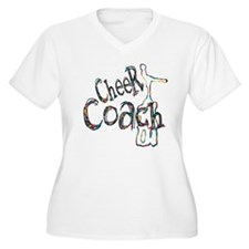 scribble cheer coach Plus Size T-Shirt
