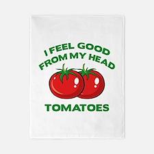 I Feel Good From My Head Tomatoes Twin Duvet