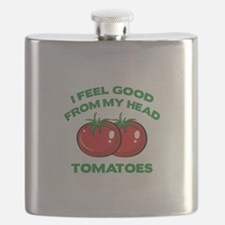 I Feel Good From My Head Tomatoes Flask