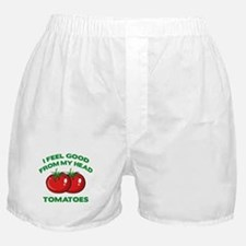 I Feel Good From My Head Tomatoes Boxer Shorts