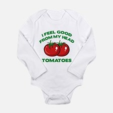 I Feel Good From My Head Tomatoes Onesie Romper Suit