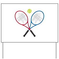 Tennis Rackets Yard Sign