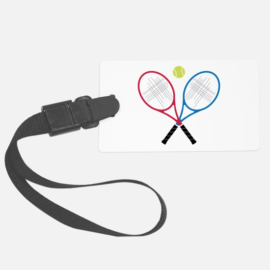 Tennis Rackets Luggage Tag
