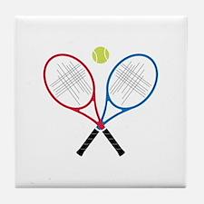 Tennis Rackets Tile Coaster
