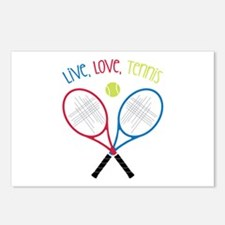 Live, Love, Tennis Postcards (Package of 8)