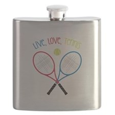 Live, Love, Tennis Flask