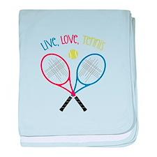 Live, Love, Tennis baby blanket