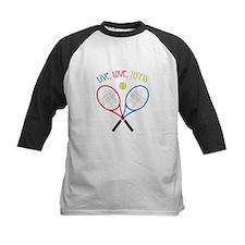 Live, Love, Tennis Baseball Jersey