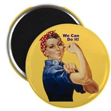 "Rosie Riveter We Can Do It 2.25"" Magnet (10 pack)"