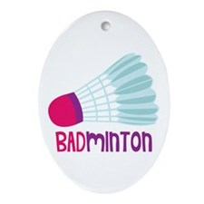 Badminton Ornament (Oval)