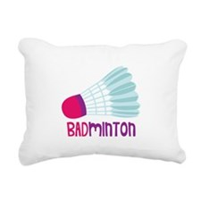 Badminton Rectangular Canvas Pillow