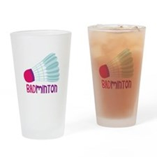 Badminton Drinking Glass