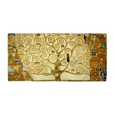 Gustav Klimt Tree Of Life Beach Towel