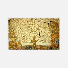 Gustav Klimt Tree Of Life 3'x5' Area Rug