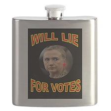HLLARY LIES Flask