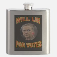 HLLARY LIES Flask