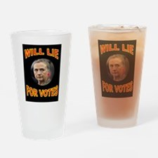 HLLARY LIES Drinking Glass