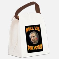 HLLARY LIES Canvas Lunch Bag