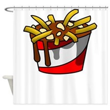 Greasy Poutine Shower Curtain