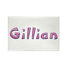 Gillian Pink Giraffe Rectangle Magnet