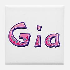 Gia Pink Giraffe Tile Coaster