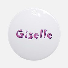 Giselle Pink Giraffe Round Ornament