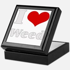 i love heart weed Keepsake Box