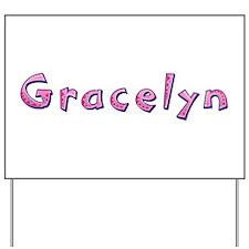 Gracelyn Pink Giraffe Yard Sign