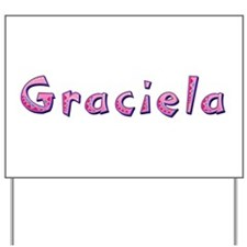 Graciela Pink Giraffe Yard Sign